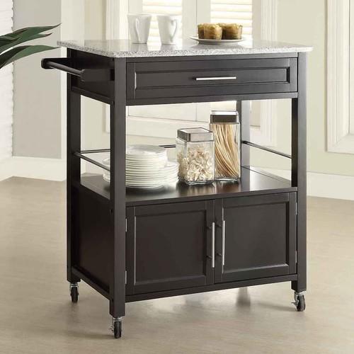 Linon Cameron Granite Top Kitchen Cart