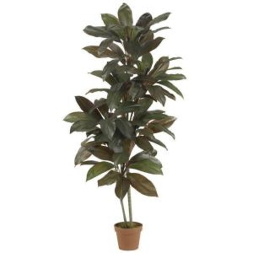 Nearly Natural Real Touch 5 ft. Green Cordyline Silk Plant