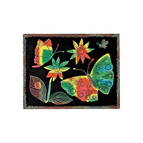 Melissa & Doug Scratch Art Paper Multicolor, Pack of 50 Sheets
