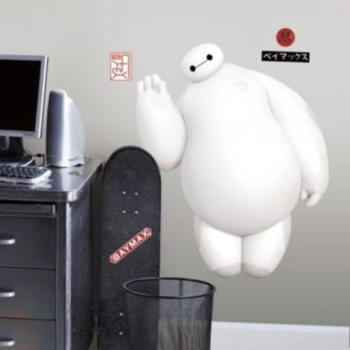 Room Mates Popular Characters Big Hero 6 White Baymax Wall Decal