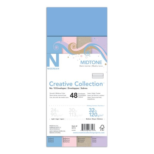 Neenah Creative Collection Envelopes, #10, 4 1/8