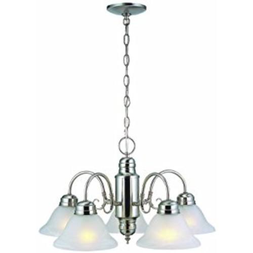 Design House 511535 Millbridge 5 Light Chandelier, Satin Nickel [Oil-rubbed Bronze, 5-Light, Chandelier]
