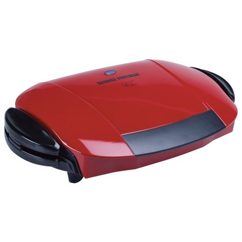 George Foreman 5-Serving Removable Plate Electric Indoor Grill and Panini Press, Red, GRP0004R [Red]