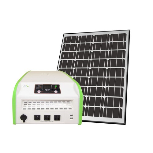 Nature Power 1,800-Watt Indoor/Outdoor Portable Off-Grid Solar Generator Kit with 100-Watt Solar Panel and Luggage Style Carrier