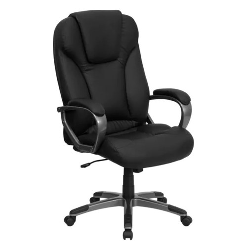 Gumtar Black Leather Executive Adjustable Swivel Office Chair