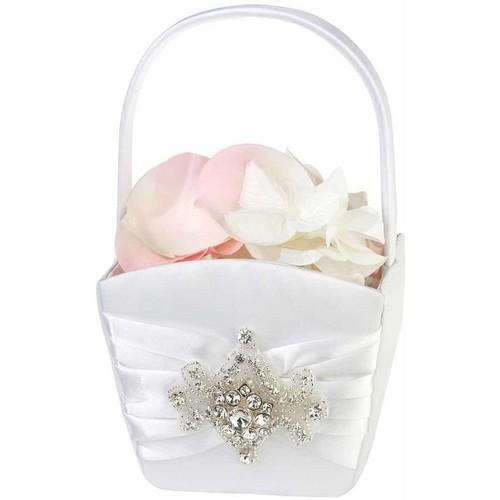 Lillian Rose Jeweled Motif Flower Girl Basket