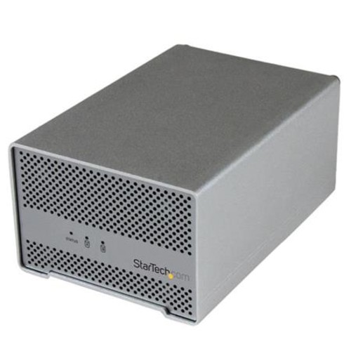 StarTech Thunderbolt Hard Drive Enclosure with Thunderbolt Cable, Silver S252SMTB3