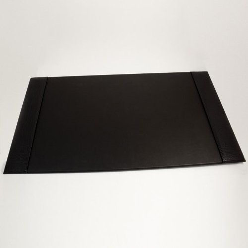 Black Croco Leather Desk Pad