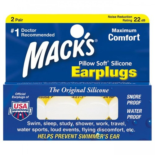 Macks Mack'S Pillow Soft Earplugs 360003, Product Weight: 2 oz, 56 g, Additional Features: Doctor recommended,