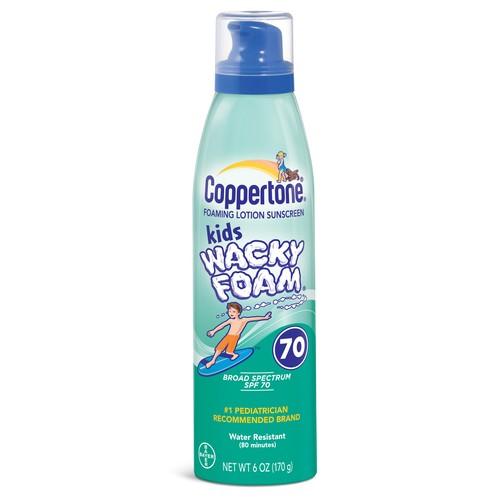 Coppertone Kids Wacky Foam Sunscreen SPF 70+, 6 Oz