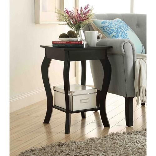 Convenience Concepts Designs2Go Ella Black End Table