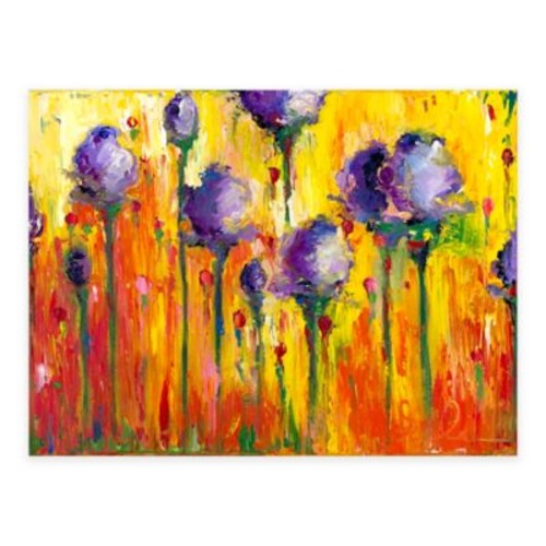 Cheerful Flowers All-Weather Outdoor Canvas Wall Art