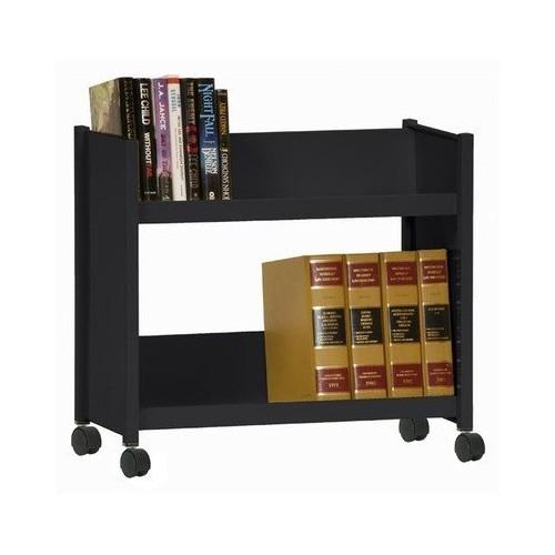 Sloped-Shelf Book Cart Color: Forest Green