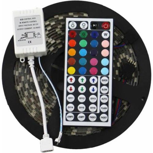 ADX 5050 RGB 16.4' SMD Water-Resistant Flexible LED Strip Kit with 44 Key Remote