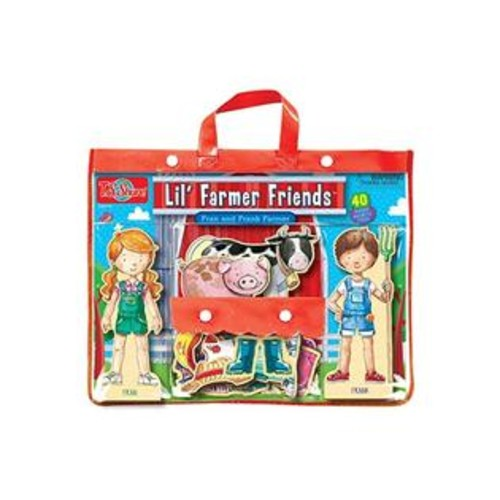 TS Shure T.S. Shure Lil' Farmer Friends Fran & Frank Wooden Magnetic Dress-Up Playset