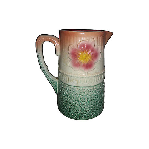 French Majolica Dahlia Pitcher