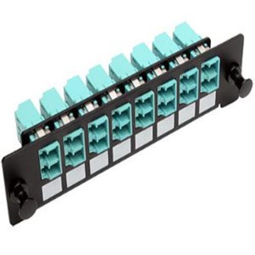 Tripp Lite High-Density Fiber Adapter Patch Panel - MMF/SMF, 8-Ports, LC Duplex Female connectors, Black - N492-08D-LC