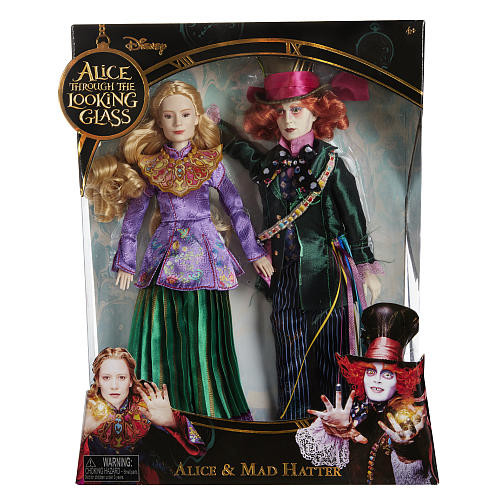Disney Alice in Wonderland 11.5 inch Deluxe Collector Doll - Hatter and Alice