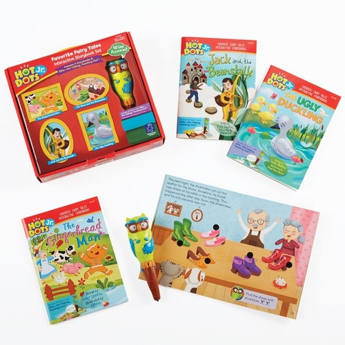 Educational Insights Hot Dots Jr. Favorite Fairy Tales Interactive Storybook Set with Ollie Pen