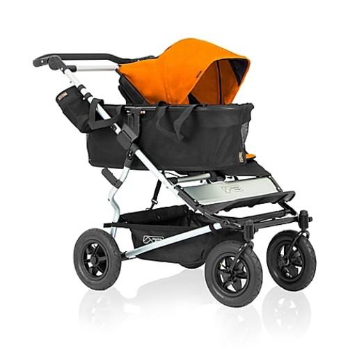 Mountain Buggy Duet Single Stroller in Orange