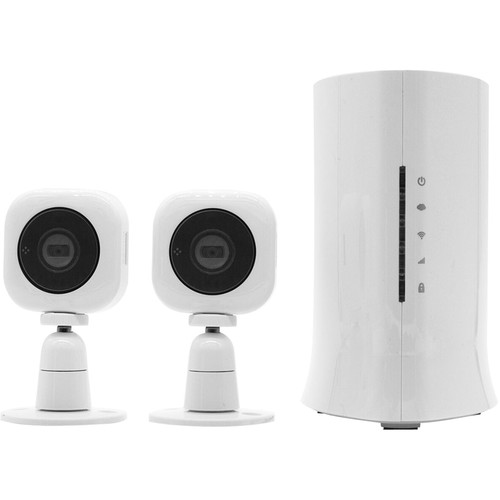 Home8 Video-Verified Mini Cube HD 2-Camera Ultra-Secure Starter Kit - Wireless Video Monitoring System with Basic Alarm Service