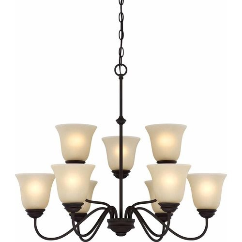 Volume Lighting Hammond 9-Light Shaded Chandelier