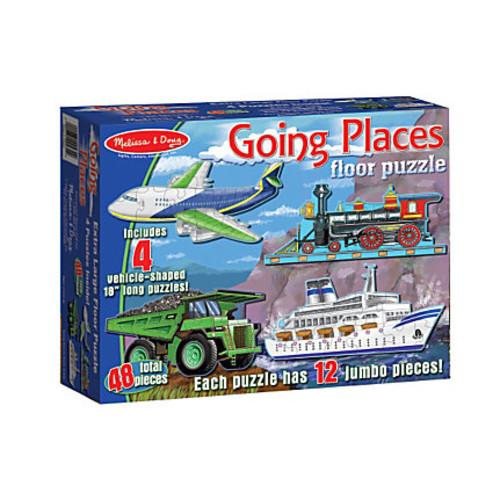Melissa & Doug Going Places 48-Piece Floor Puzzles, Set Of 4