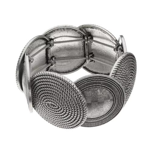 Dana Buchman Textured Oval Link Stretch Bracelet