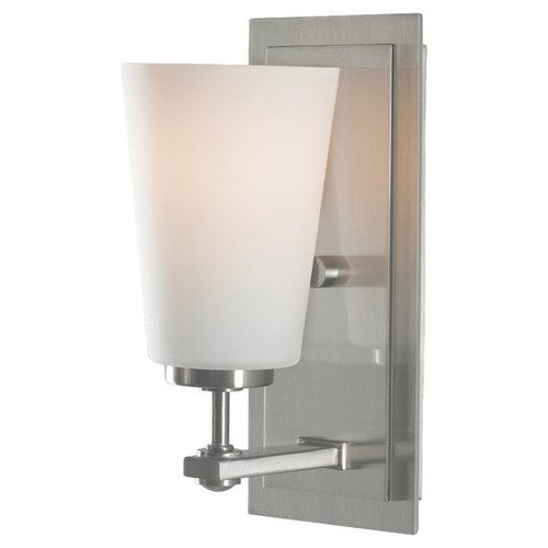 Feiss Sunset Drive 1 - Light Vanity Fixture, Brushed Steel