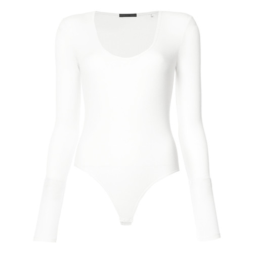 Modal Rib Long Sleeve Scoopneck Bodysuit