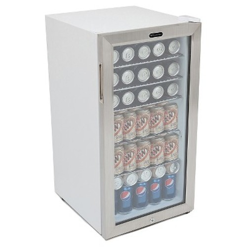 Whynter - 120-Can Beverage Refrigerator - White