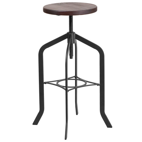 30-inch Barstool with Swivel Lift Wood Seat