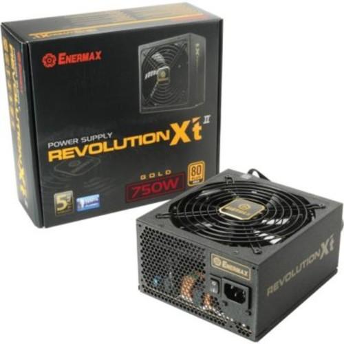 Enermax Revolution X't 80 PLUS GOLD Certified Semi-Modular Active PFC Power Supply, 750 W (ERX750AWT)