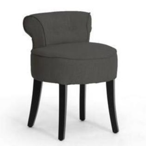 Baxton Studio S Millani Gray Linen Modern Lounge Stool BH-63110-GREY-AC