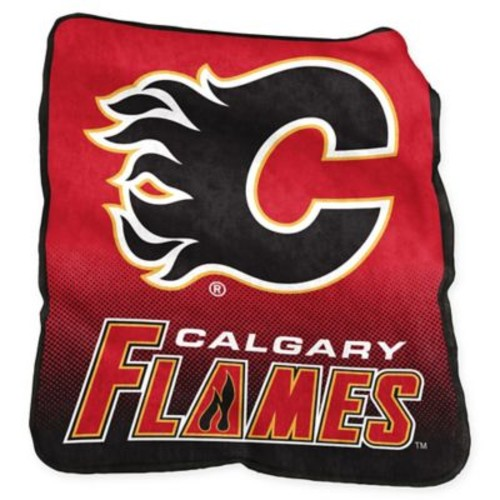 NHL Calgary Flames Raschel Throw Blanket