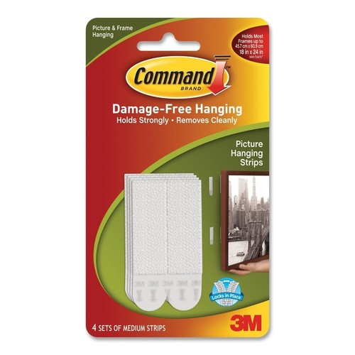Command Picture Hanging Strips, Medium 4 sets