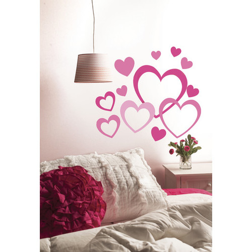 Peel and Stick Hearts in Hearts Wall Decal by Wallies