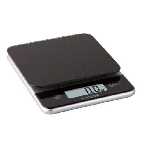 Taylor Digital 11lb Glass Top Food Scale - Black