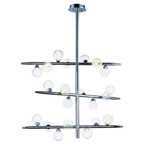 Bubbly LED Polished Chrome Single Pendant Light