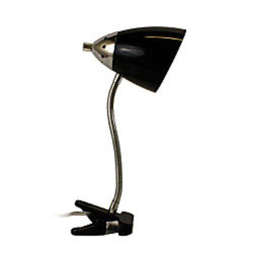 LimeLights Flossy Flexible Gooseneck Clip Desk Lamp, 40W, Black