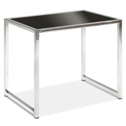 Ave Six Yield End Table, Chrome/Black