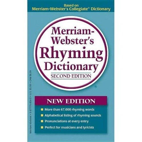 Merriam-Webster's Rhyming Dictionary, New Second Edition, trade paperback