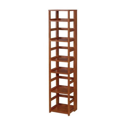 Niche Flip Flop Cherry 6-Shelf Square Folding Bookcase