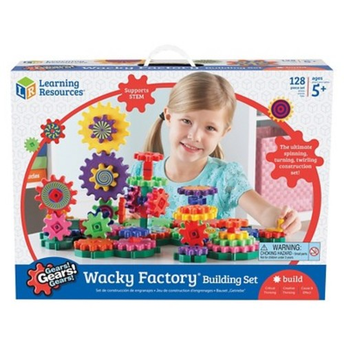 Learning Resources Gears! Gears! Gears! Wacky Factory Building Set