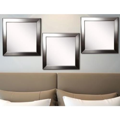 Rayne Mirrors Ava Silver Rounded Wall Mirror (Set of 3)