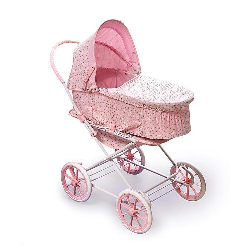 Badger Basket Pink Rosebud 3-in-1 Doll Pram, Carrier and Stroller for 24 inch Dolls