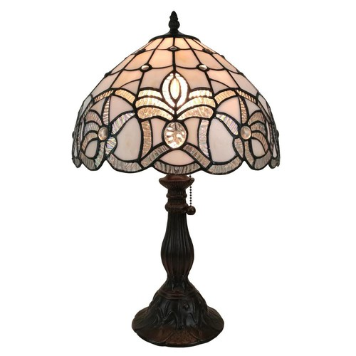 Amora Lighting 19 in. Multicolored Tiffany Style Floral Design Table Lamp