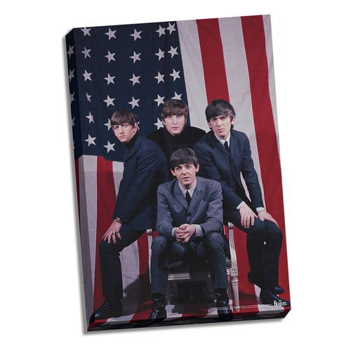 The Beatles US Flag 24x26 Canvas