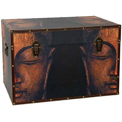 Oriental Furniture Buddha Storage Trunk