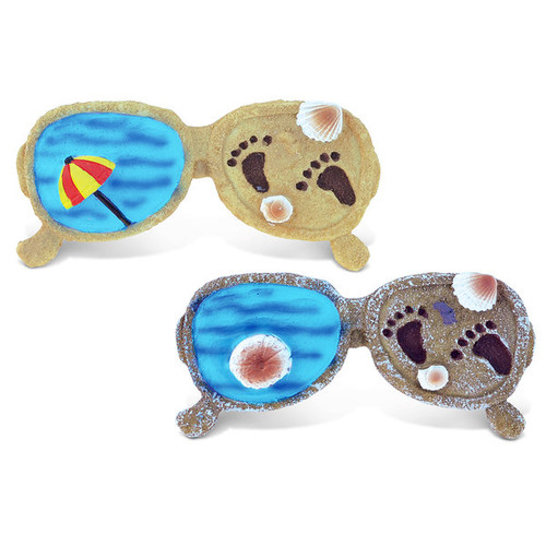 Puzzled Multicolored Resin Sunglass-shaped Refrigerator Magnets (Set of 2)